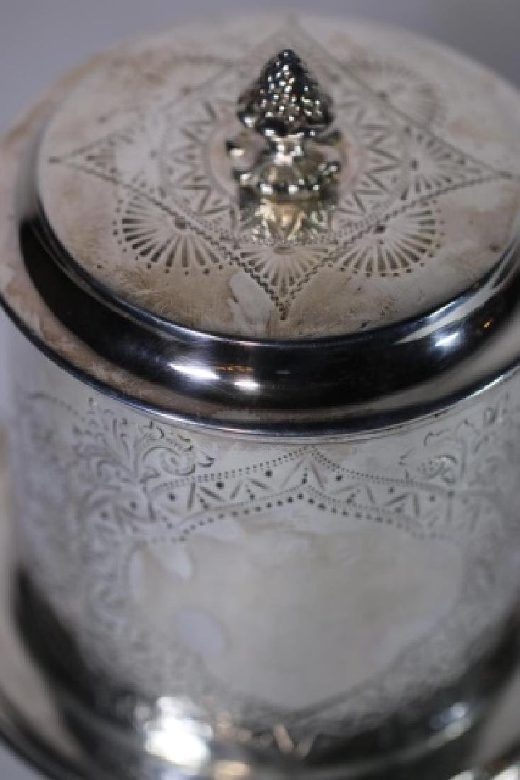 ENGLISH ANTIQUE SILVER BISCUIT BOX - 5