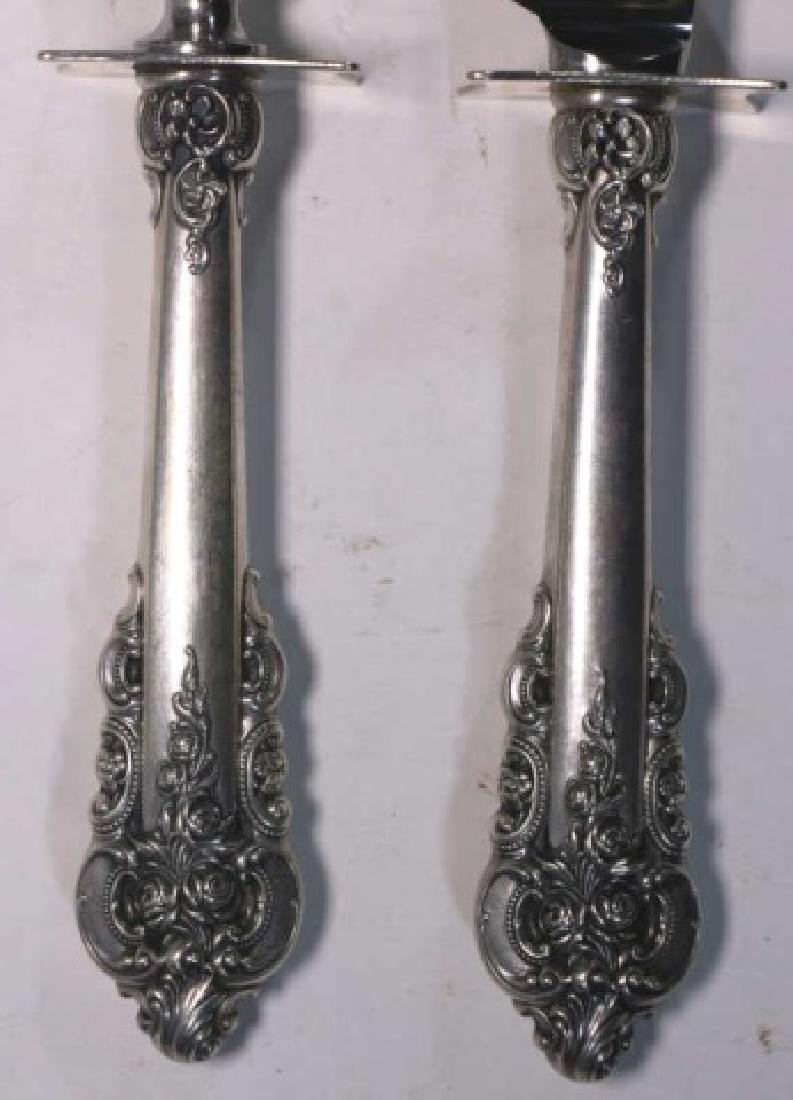 WALLACE GRAND BAROQUE STERLING SILVER CARVING SET - 2