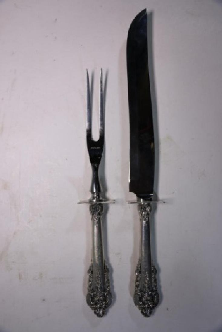 WALLACE GRAND BAROQUE STERLING SILVER CARVING SET - 5