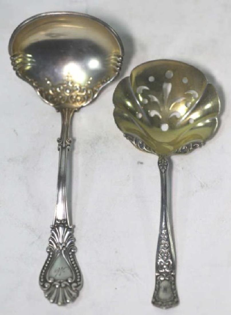 STERLING SILVER FINE SERVING SPOONS