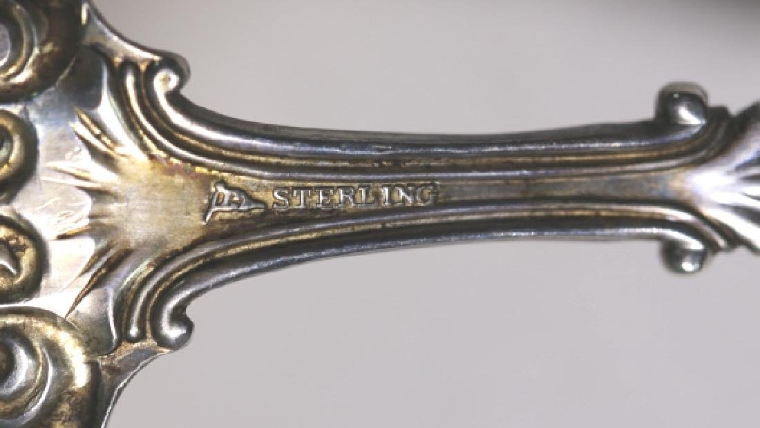 STERLING SILVER FINE SERVING SPOONS - 3