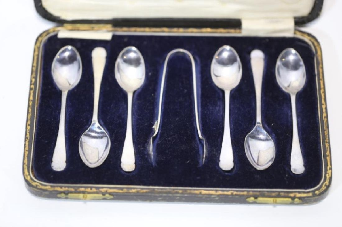 "STERLING SILVER ""HARDY BROTHERS"" SPOON & TONG SET - 5"