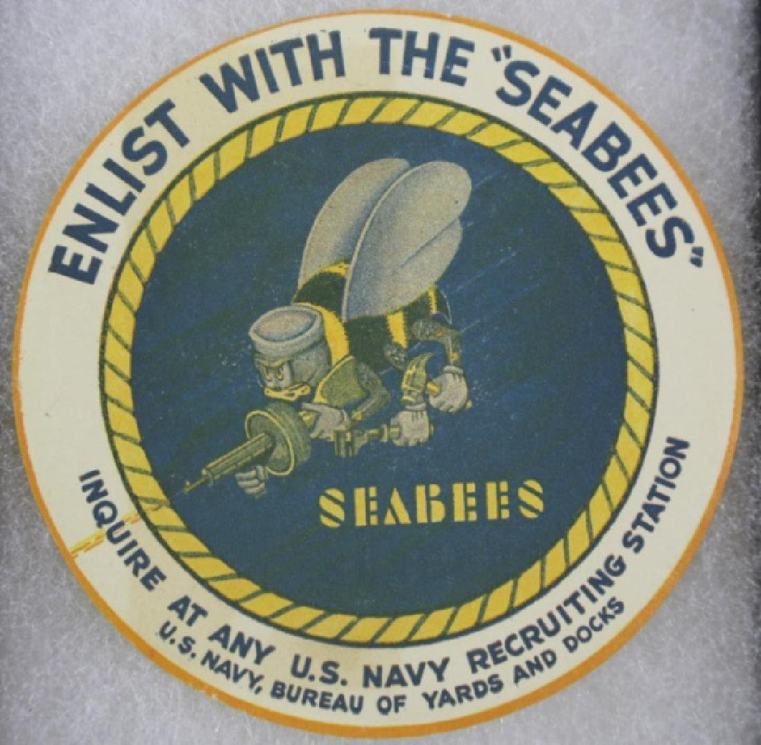 NAVY SEABEES VINTAGE ENLISTMENT LABEL
