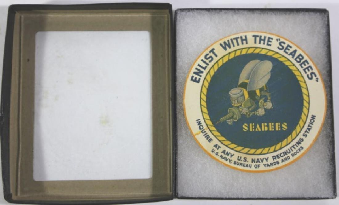 NAVY SEABEES VINTAGE ENLISTMENT LABEL - 2