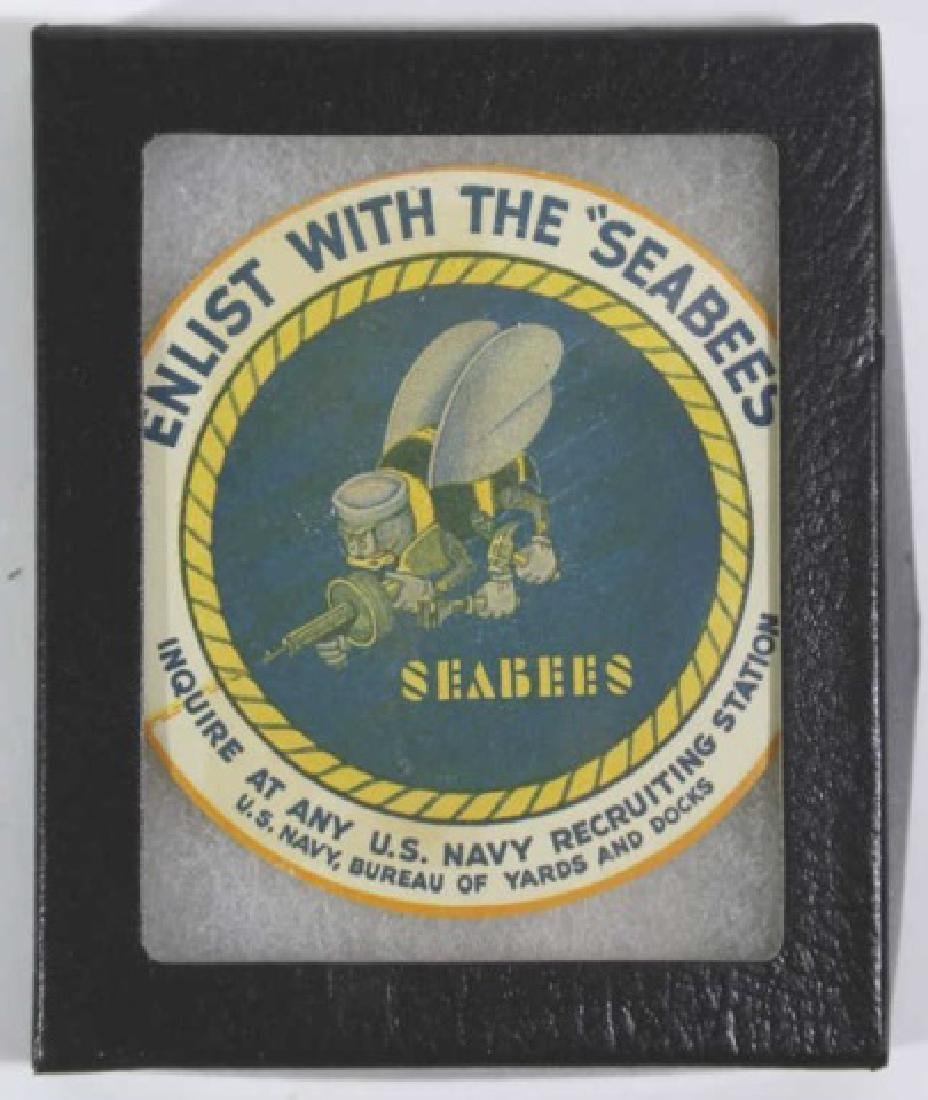 NAVY SEABEES VINTAGE ENLISTMENT LABEL - 4