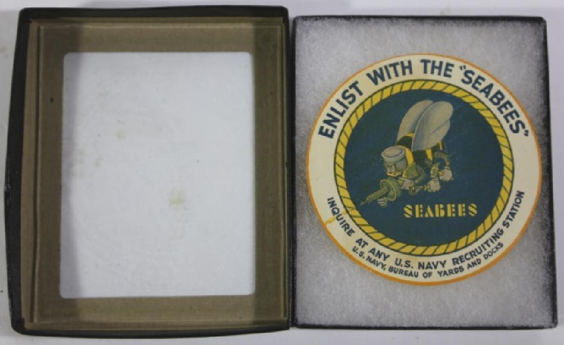 NAVY SEABEES VINTAGE ENLISTMENT LABEL - 5