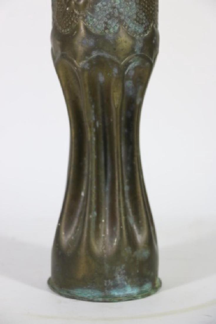 WWI TRENCH ART SHELL - 10