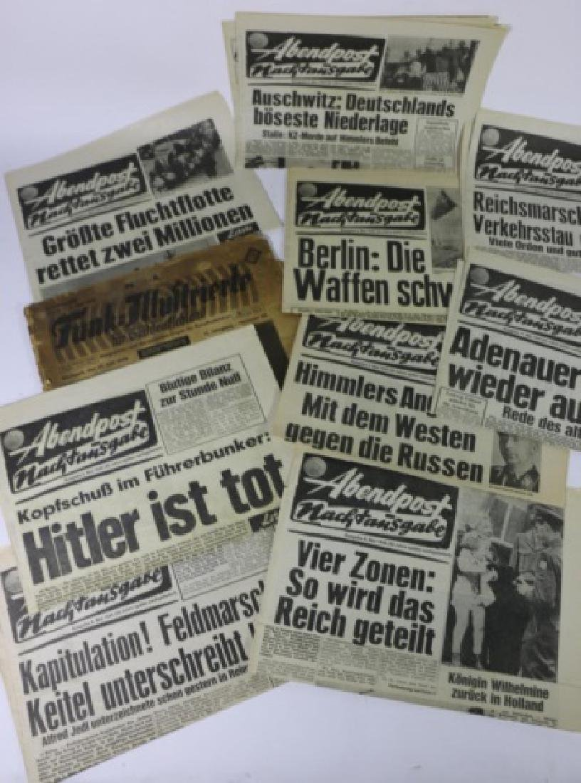 GERMAN WWII NEWSPAPER GROUPING
