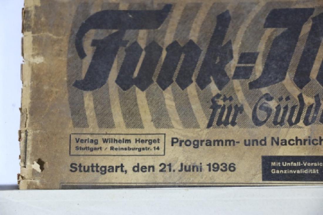 GERMAN WWII NEWSPAPER GROUPING - 2