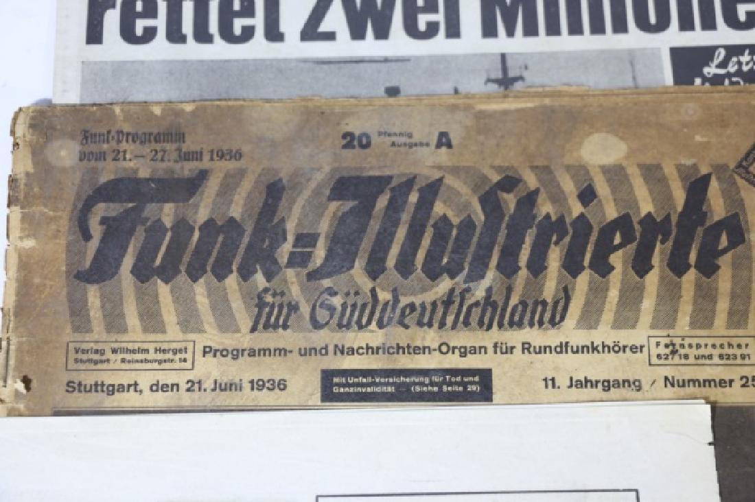 GERMAN WWII NEWSPAPER GROUPING - 3