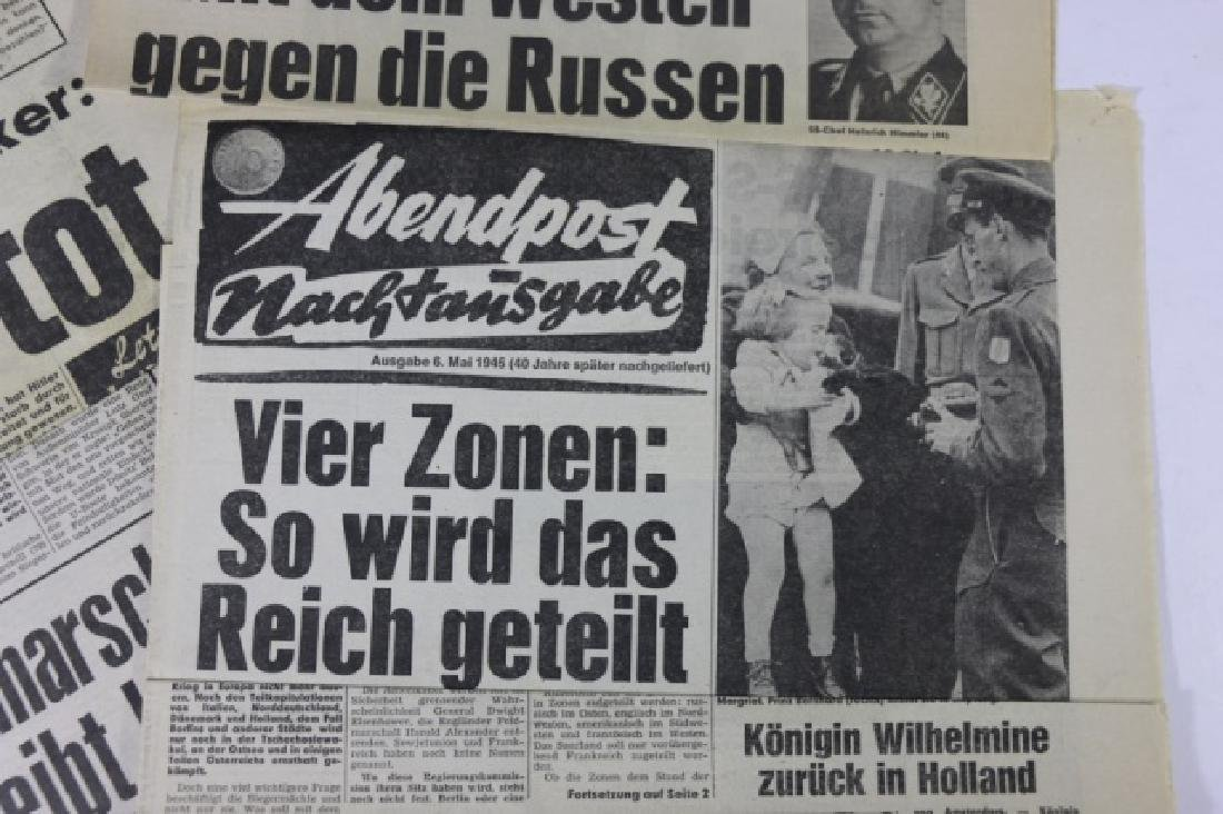 GERMAN WWII NEWSPAPER GROUPING - 5