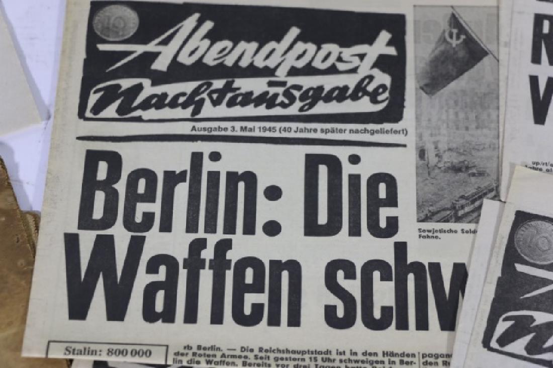 GERMAN WWII NEWSPAPER GROUPING - 7