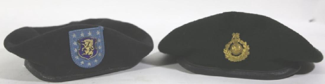 MILITARY VINTAGE BERET GROUPING