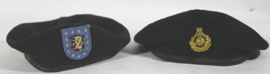 MILITARY VINTAGE BERET GROUPING - 4
