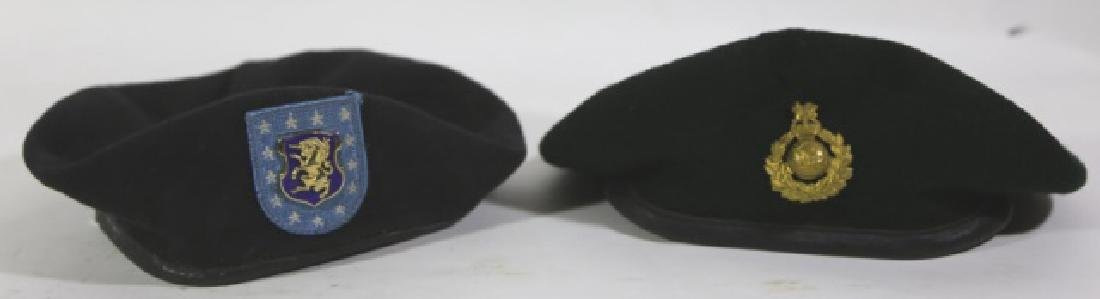 MILITARY VINTAGE BERET GROUPING - 9