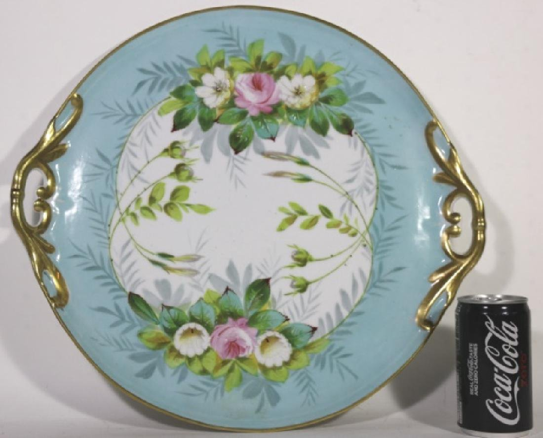 LIMOGES TWIN HANDLE FLORAL CHARGER - 2