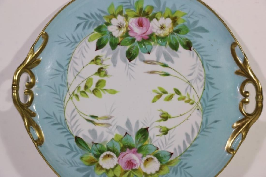 LIMOGES TWIN HANDLE FLORAL CHARGER - 3