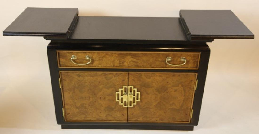 MID CENTURY MODERN BURL & LACQUERED BAR BY CENTURY - 2