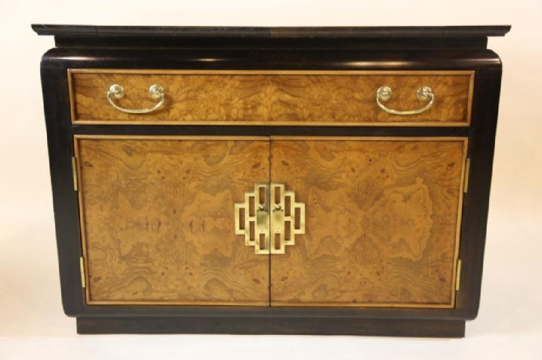 MID CENTURY MODERN BURL & LACQUERED BAR BY CENTURY - 8