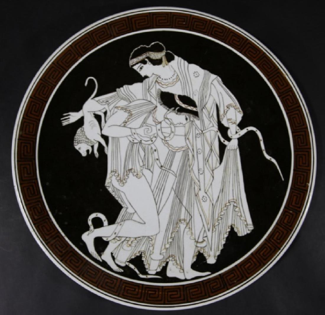 GREEK CERAMIC CHARGER - 3