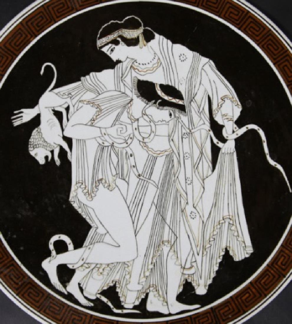 GREEK CERAMIC CHARGER - 5