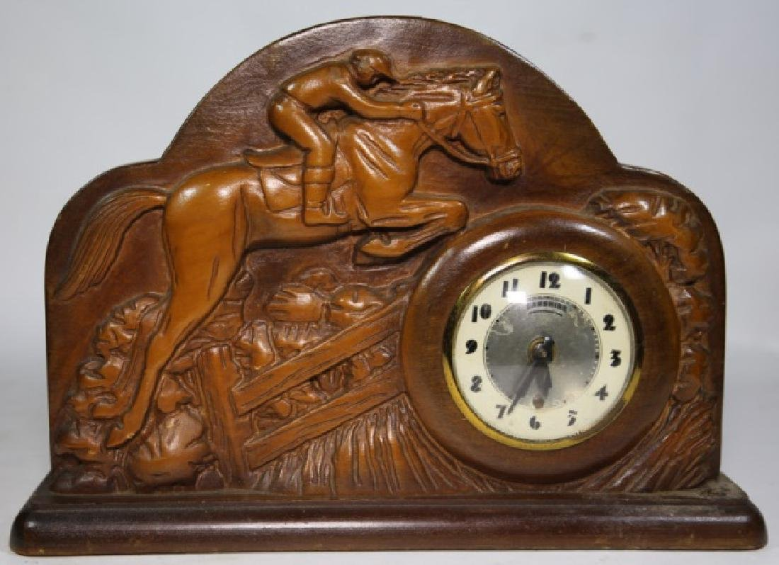 LANSHIRE EQUESTRIAN MID CENTURY ELECTRIC CLOCK