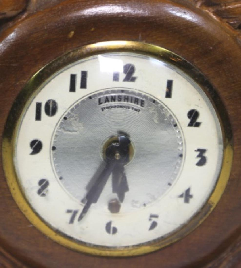 LANSHIRE EQUESTRIAN MID CENTURY ELECTRIC CLOCK - 3