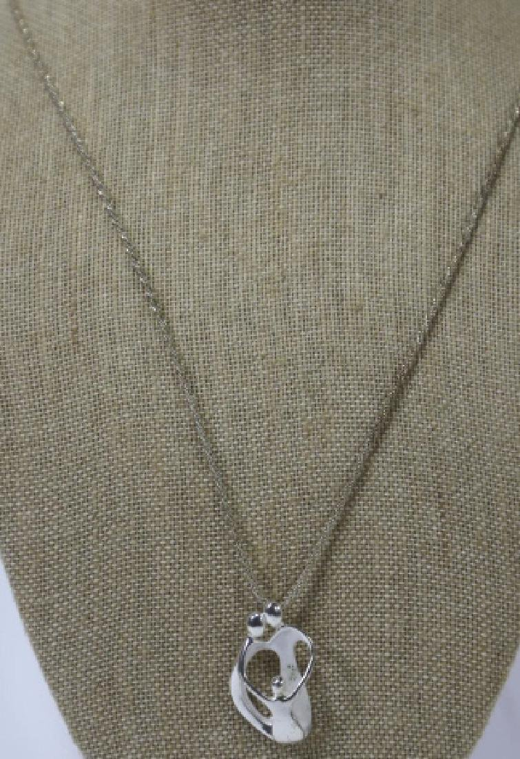 MODERN STERLING SILVER PENDANT ON CHAIN - 2
