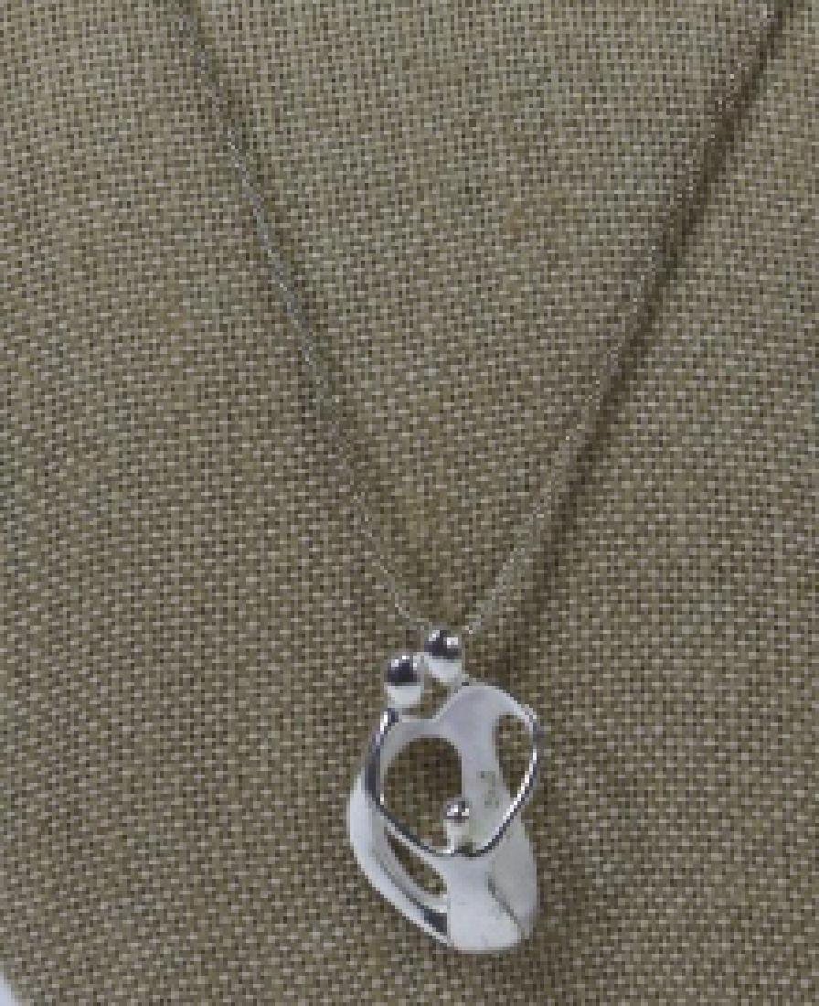 MODERN STERLING SILVER PENDANT ON CHAIN - 3