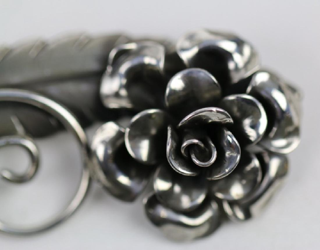 STERLING SILVER FLORAL PIN - 2