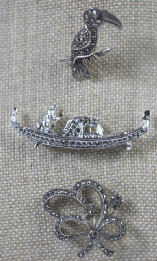 STERLING SILVER VINTAGE PIN GROUPING