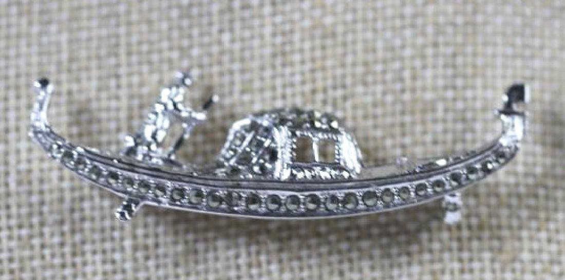 STERLING SILVER VINTAGE PIN GROUPING - 2