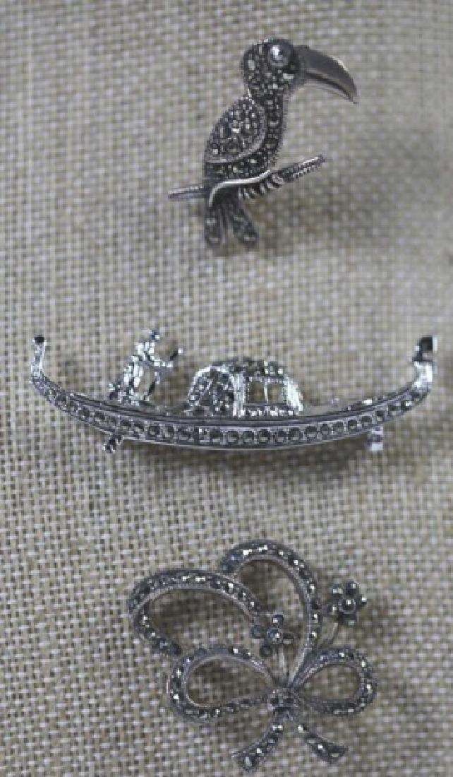STERLING SILVER VINTAGE PIN GROUPING - 5