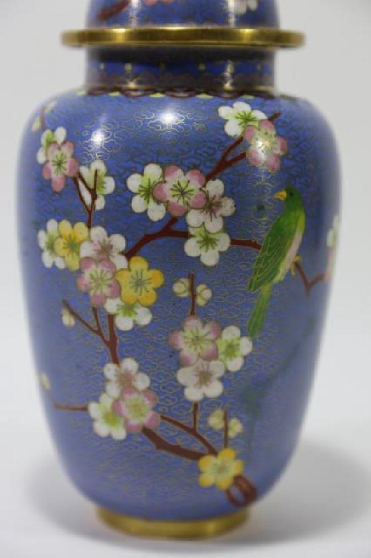 CHINESE CLOISSONE LIDDED JAR - 2