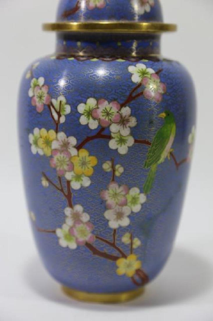 CHINESE CLOISSONE LIDDED JAR - 4