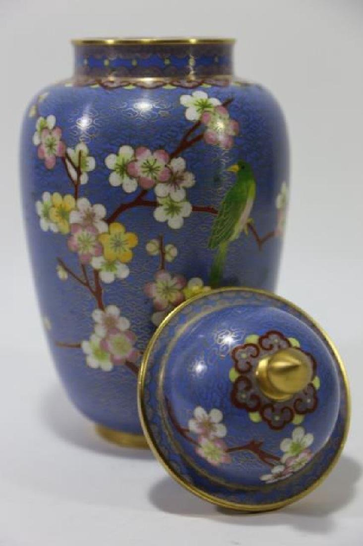 CHINESE CLOISSONE LIDDED JAR - 5