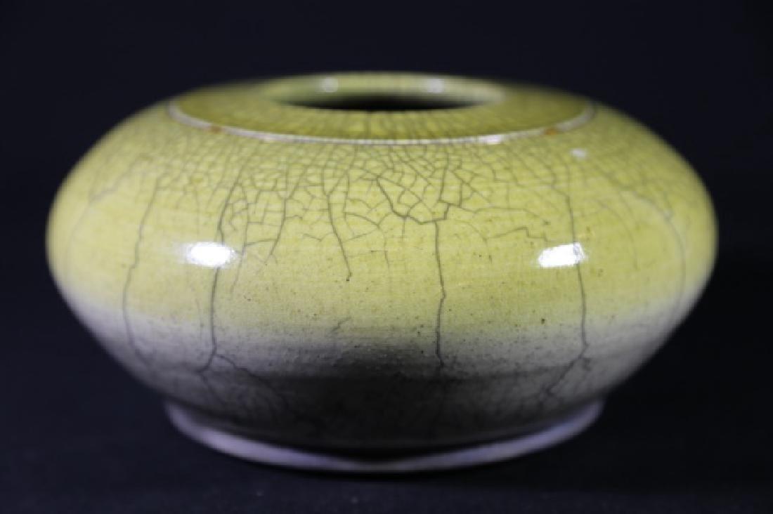 CHINESE ANTIQUE CRACKLED GLASE VASE