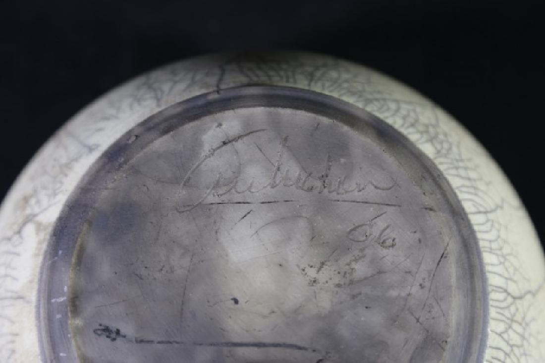CHINESE ANTIQUE CRACKLED GLASE VASE - 5