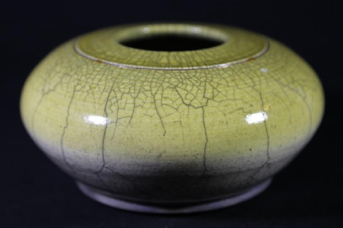 CHINESE ANTIQUE CRACKLED GLASE VASE - 7