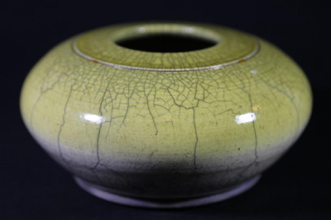 CHINESE ANTIQUE CRACKLED GLASE VASE - 8