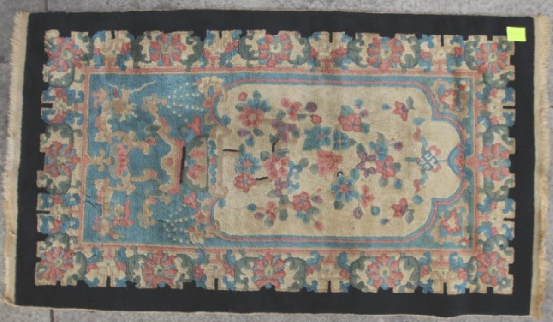 CHINESE ANTIQUE HAND WOVEN AREA CARPET