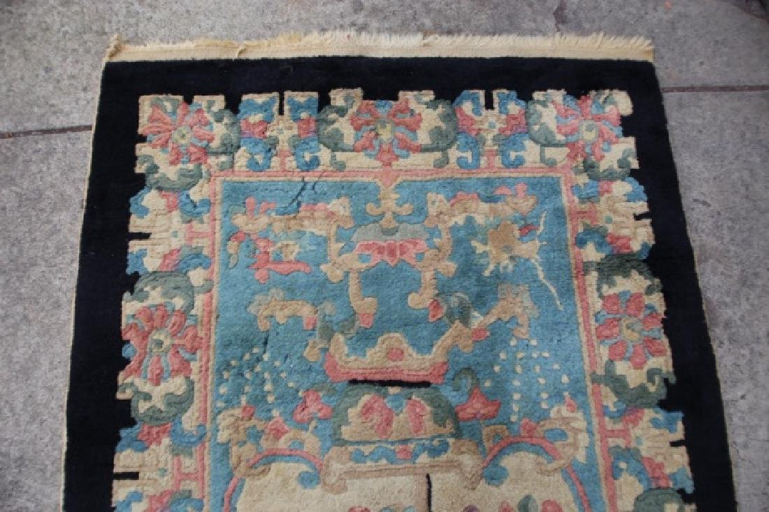 CHINESE ANTIQUE HAND WOVEN AREA CARPET - 3