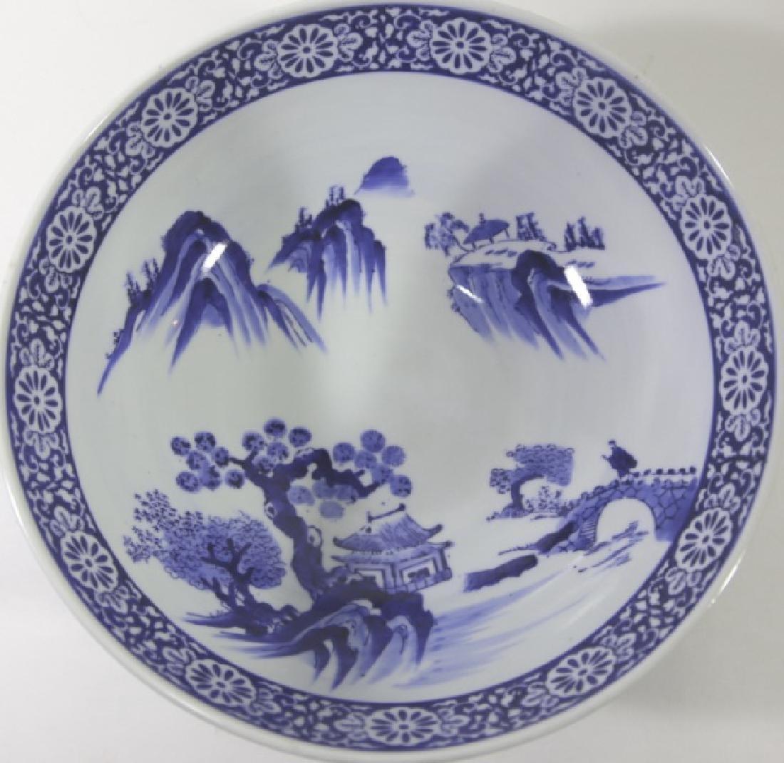 CHINESE BLUE & WHITE LARGE BOWL