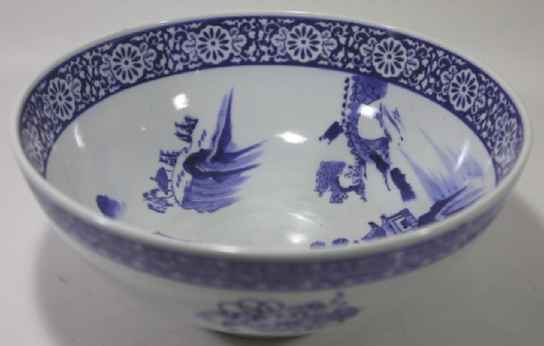 CHINESE BLUE & WHITE LARGE BOWL - 2