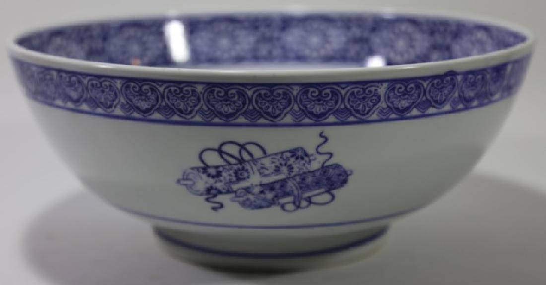 CHINESE BLUE & WHITE LARGE BOWL - 4