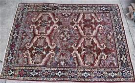 PERSIAN HAND WOVEN SEMIANTIQUE AREA RUG