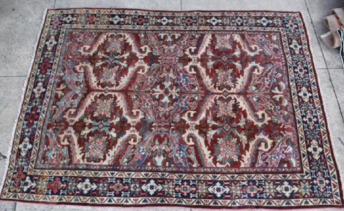 PERSIAN HAND WOVEN SEMI-ANTIQUE AREA RUG