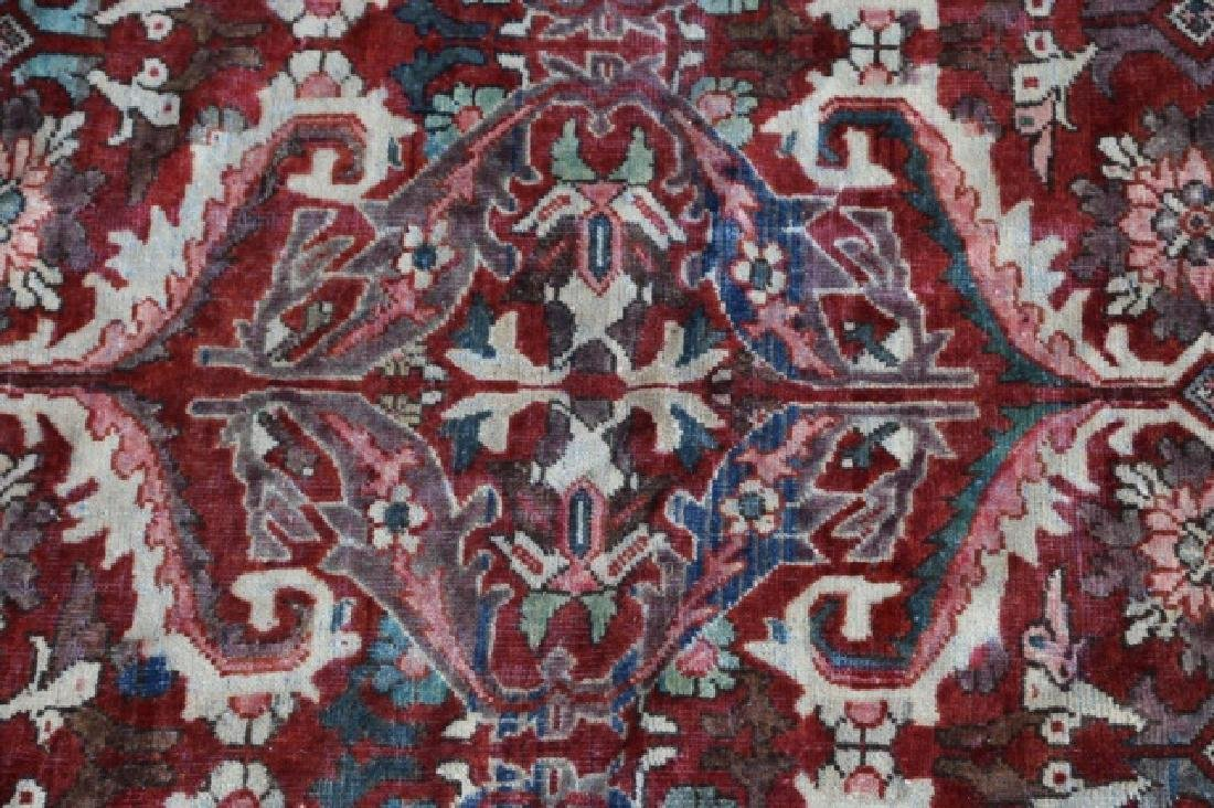 PERSIAN HAND WOVEN SEMI-ANTIQUE AREA RUG - 2
