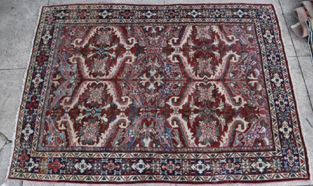 PERSIAN HAND WOVEN SEMI-ANTIQUE AREA RUG - 3