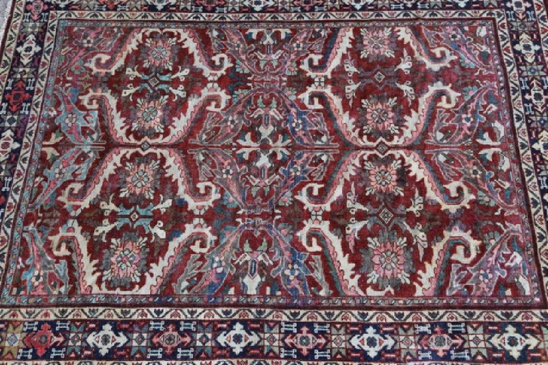 PERSIAN HAND WOVEN SEMI-ANTIQUE AREA RUG - 4